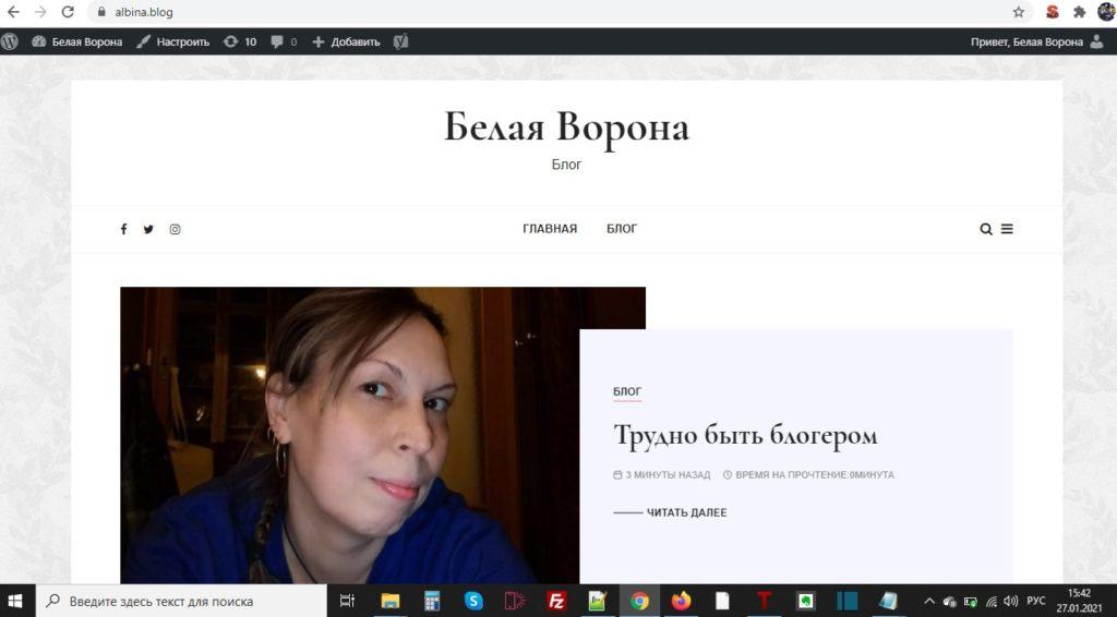 Albina.blog — про блогера